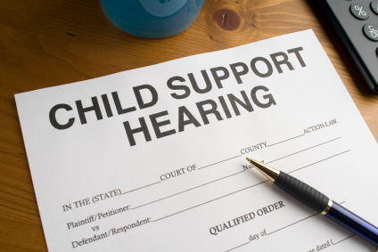 Image of child support hearing